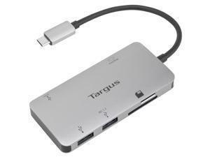 Targus USB-C Multi-Port Single Video Adapter and Card Reader with 100W PD Pass-Thru - ACA953USZ