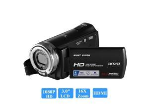 [ Original Authorized ] Ordro V12 FHD 1080P 3 inch Touch Sceen 20MP 16X Zoom DV Camera Digital Camcorder HDV V12