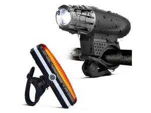 High Quality Bicycle Tail Light Kit Safety USB Recharge 300 Lumen Bicycle Headlight with Tail Light