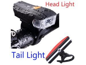 High Quality Bicycle Tail Light Kit Safety USB Recharge 400 Lumen Bicycle Headlight with Tail Light