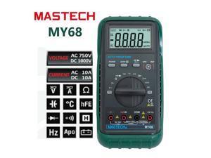 Mastech MY68 Multimeter Digital Multitester Auto Range DMM Current Resistance Capacitance Digital Tester MY68