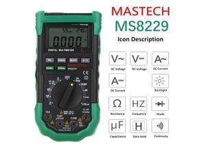 Mastech MS8229 Multimeter 5 in 1 Digital Multimeter Auto Range Electrical Measure Tool Current Resistance Capacitance Tester MS8229