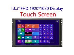 13 inch Industrial Display Touch Monitor 1920*1080 FHD IPS Open Frame Capacitive Touch Screen 13.3 inch Touch Display with VGA/HDMI Speakers