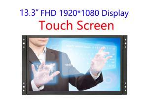 13 inch Industrial Display Touch Monitor 1920*1080 FHD IPS Open Frame Capacitive Touch Screen 13.3 inch Touch Display with VGA HDMI Speakers