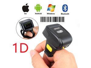 Nexanic Mini Wireless 1D Barcode Scanner Wearable Bluetooth 1D Bar Code Reader Ring Barcode Scanner