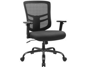 Devoko Big and Tall Office Chair 400 lbs Ergonomic Desk Chair with Adjustable Armrests High-Back Computer Chair with Lumbar Support Executive Swivel Conference Chair (Black)