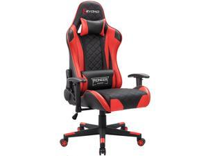 Devoko Gaming Chair Racing Style High Back Computer Chair with Adjustable Armrests Ergonomic Office Chair Executive Swivel Task Chair with Headrest and Lumbar Support (Red)