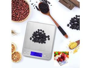PROSTER 0.01-500g Digital Scale Mini Digital Pocket Scale Weight Scale Auto zero-tracking Large stainless steel platform 2 * AAA battery(includ) Digital Scale Blue Backlight ABS plastic Auto power off