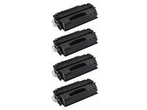 4PK Q5949X 49X Black Toner Cartridge For HP LaserJet 1320nw 1320tn 3390 3392