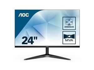 "AOC 24B1H 23.6"" Full  Flat Black HD LED Matt Computer Monitor"