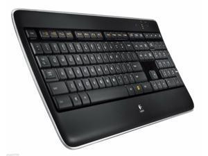 New Illuminated Backlit Keys Keyboard Logitech Wireless K800 w/ Receiver - Black