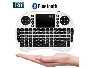 Rii i8BT Mini  Bluetooth Slim Design WHITE 10036 Wireless Keyboard With Touchpad