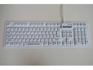 Wetkeys KBSTFC106-W Accs Washable Sanitype Hygienic Usb Keyboard  (kbstfc106w)