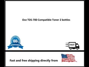 Oce TDS-700 Compatible Toner 2 bottles
