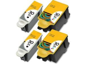 4 PACK For Kodak 30XL Black & Color Ink Cartridges 1341080 1550532 30 XL