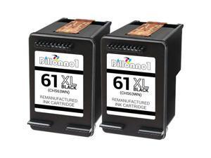 2pk #61XL (CH563W) Black Ink Cartridges For HP ENVY 4500 5530 Printer Series