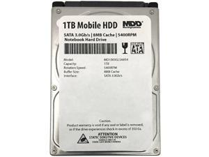 "MDD 1TB 5400RPM 8MB Cache 9.5mm 2.5"" SATA 3.0Gb/s Notebook / Laptop Hard Drive"