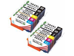 2 Set(4Black+2 PhotoBlack+2Cya 564 XL Ink Cartridges For HP 564 Photosmart