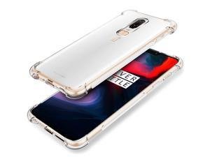 iCoverCase Compatible with OnePlus 6 Case, Crystal Clear Soft TPU Shock Absorption Bumper Slim Thin Cover Case -Clear