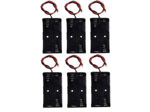 LAMPVPATH (Pack of 6) AA Battery Holder, 2 X 1.5V AA Battery Holder with Leads, AA Battery Holder with Wires
