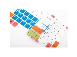 "Keyboard Cover for Lenovo Yoga C940 15, ThinkBook 15, ideapad 320 330 15.6/17.3, ideapad 3 330s 15.6/17.3, ideapad 520/S145 S340 S540 S740 15.6"", ideapad L340 15.6/17.3"" Laptop - White Blue"