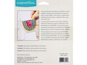 Dimensions 72-76201 Llama Punch Needle Embroidery Kit, 8 Diameter