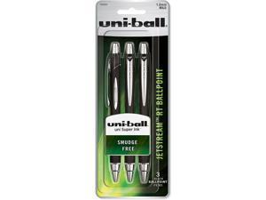 Uni-Ball Jetstream RT Ballpoint Pens, 1.0mm, Bold Point, Black Ink, 3 Count