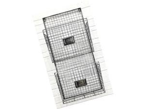Two Tier Wall File Holder – Durable Pewter Metal Rack with Spacious Slots for...