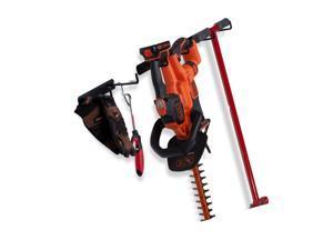 Wallniture Nera 6 Sectional Garage Organizer Rack Broom Holder Wall Mount Sto...