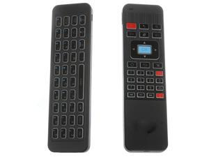 Cordless Remote Air Keyboard w/ IR Learning Blacklit 2.4G Wireless Mouse TV Remo