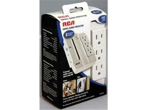 Audiovox PSWTS6R RCA 6 Outlet Swivel Surge Protector