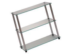 Convenience Concepts Designs2Go Classic Glass 3 Shelf Bookcase, Glass