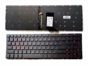 New Acer Nitro 5 AN515 AN515-51 AN515-52 AN515-53 English Keyboard Red Backlit