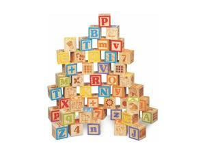 Maxim Deluxe Wooden ABC Blocks. Extra-Large Engraved Baby Alphabet Letters, C...