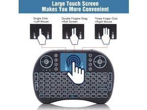 i8 2.4Ghz Mini Wireless Keyboard Backlit Controls Toucad for Android TV PC