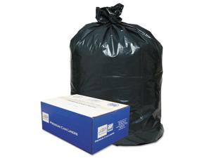 Classic 2-Ply Low-Density Can Liners 56gal .9 Mil 43 x 47 Black 100/Carton