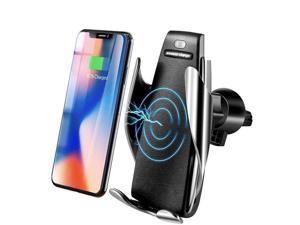 Smart Sensor Auto Open / Lock Phone Holder Qi Wireless Charger Car Holder