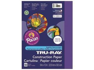 Pacon PAC103019BN 9 x 12 in. Tru Ray Purple Construction Paper - 50 Sheet per...