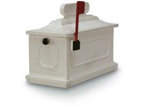 Postal Products Unlimited N1027186 White 1812 Architectural Series Mailbox 10