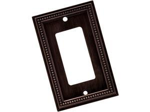 Brainerd 64405 Beaded Single Decorator Wall Plate / Switch Plate / Cover, Ven...