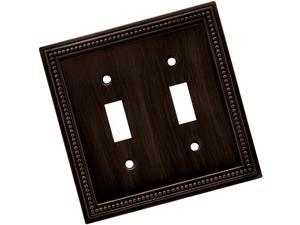 Brainerd 64409 Beaded Double Toggle Switch Wall Plate / Switch Plate / Cover,...