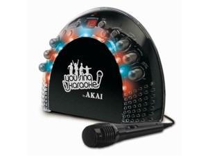 AKAI KS-201 Portable CD plus G Karaoke System with Light Effects