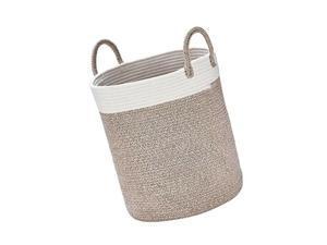 LA JOLIE MUSE Woven Basket Rope Storage Baskets - Large Cotton Organizer 16 x...