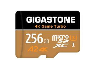 Gigastone 256GB Game Turbo Micro SD Card, UHS-I U3 C10 Class 10 Nintendo-Switch Compatible, 4K UHD Video 100MB/s, with [5-yrs Free Data Recovery]