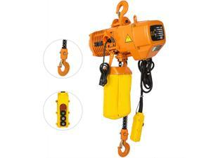 0.5T 1100lbs Electric Chain Hoist 1 Phase 110V 10ft Factories Building Anti-rust