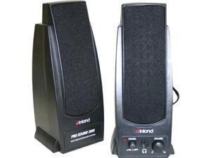 Inland Pro Sound 2000 2.0 Speaker System - 7.20 W RMS - Black