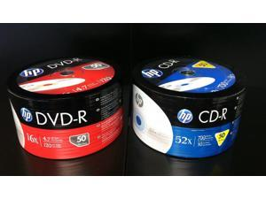 100 Pieces HP Logo Media Disc Combo (50 pieces 16x DVD-R & 50 pieces 52x CD-R)