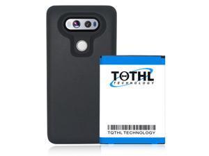 For LG V20 battery-6600 mAh Replacment battery + Soft TPU BL-44E1F LS997 Sprint