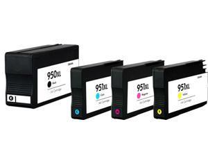 4-PK Comp HP ink cartridges for HP 950 XL 951 XL OfficeJet Pro 8610 8625