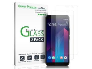 4-Pack KHAOS for HTC U Ultra 9H HD Clear Anti-Scratch Tempered Glass Screen Protector with Lifetime Replacement Warranty Full Cover Black